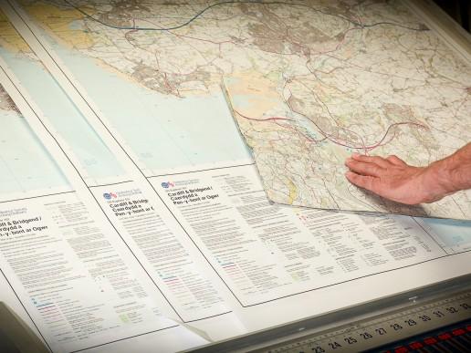 Printing Ordnance Survey map
