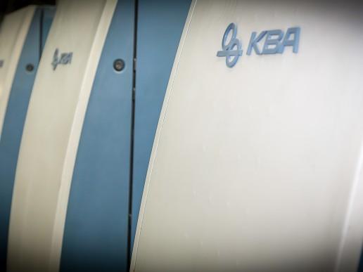 Large format KBA litho press