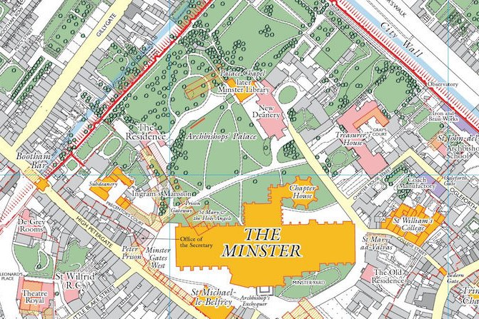 Historic Map York Minster
