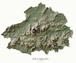 National Parks Cairngorms - Ordnance Survey poster