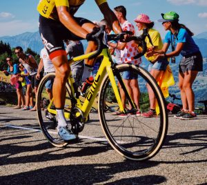 The rider in the yellow jersey - Greg van Avermaet
