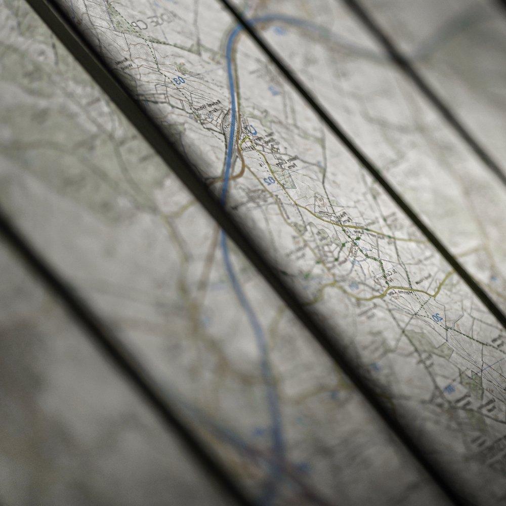 Large format digital printing for map