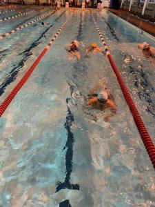 The triathlon - swimming section