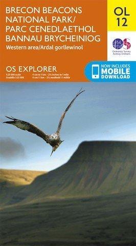 Bird on map - Brecon Beacons OS Explorer map