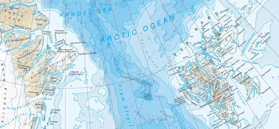 Arctic map - environmental responsibilities