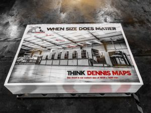 Dennis Maps printing press for Large format Posters - when size does matter