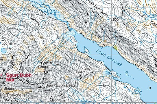 Skye cuillin layout 2019 front - Harvey Maps