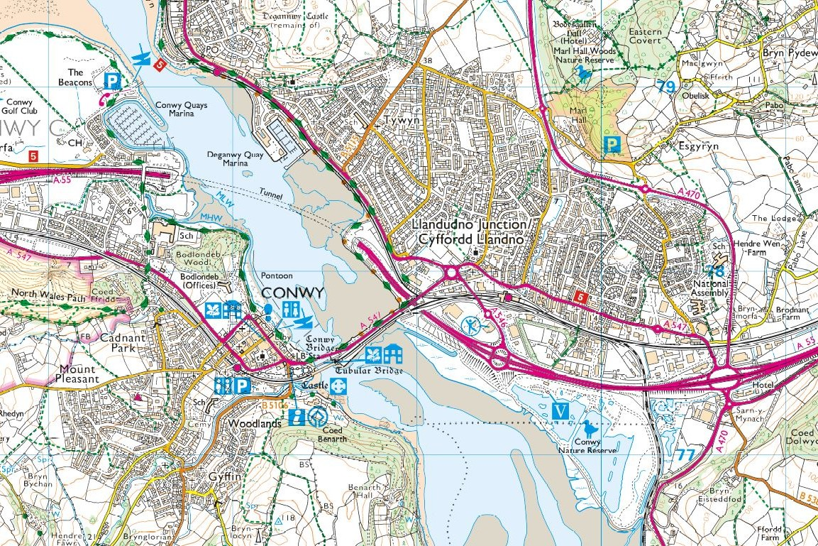 OS Map Conway