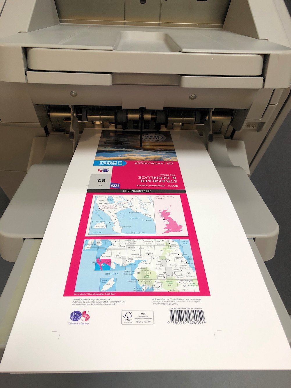 Small Format Digital Map being printed
