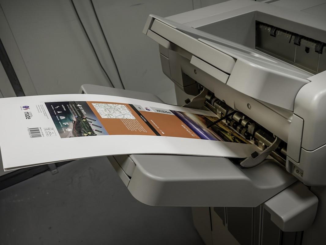 Small Format Digital Printer producing custom made map