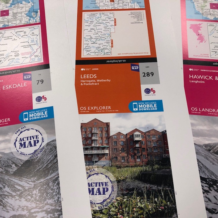 Small Format Print Products - OS Active Maps